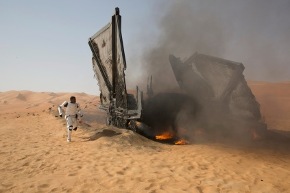 Star Wars: The Force Awakens Finn (John Boyega) Ph: David James ©Lucasfilm 2015