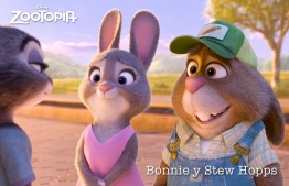 ZOOTOPIA - (Left) BONNIE HOPPS, mother of Judy and her 275 brothers and sisters. Mrs. Hopps loves and supports her daughter, but is a hare nervous about Judy moving to Zootopia to become a big-city police officer. (Right) Judy's father, STU HOPPS, a carrot farmer from Bunnyburrow. Along with Mrs. Hopps, he is worried about Judy moving to Zootopia and the untrustworthy big-city mammals who live there especially foxes. ©2015 Disney. All Rights Reserved.