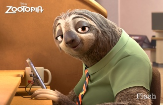 ZOOTOPIA - FLASH, the fastest sloth working at the DMV the Department of Mammal Vehicles. ©2015 Disney. All Rights Reserved.