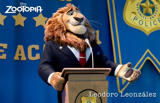 "ZOOTOPIA - MAYOR LEODORE LIONHEART, the noble leader of Zootopia, who coined the city's mantra that Judy Hopps lives by: In Zootopia, anyone can be anything."" ©2015 Disney. All Rights Reserved."