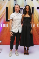 "MEXICO CITY, MEXICO - AUGUST 30: Actor Simon Pegg and actress Zoe Saldana attend a Photocall & Press Conference during the promotional tour of the Paramount Pictures title ""Star Trek Beyond"" at the St. Regis Hotel on August 30, 2016 in Mexico City, Mexico. (Photo by Victor Chavez/Getty Images for Paramount Pictures) *** Local Caption *** Simon Pegg;Zoe Saldana"