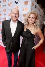 "Producer Christopher Meledandri and Tori Kelly seen at Universal Pictures ""Sing"" at the 2016 Toronto International Film Festival on Sunday, Sept. 11, 2016, in Toronto. (Photo by Eric Charbonneau/Invision for Universal Pictures/AP Images)"