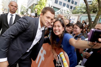"Taron Egerton seen at Universal Pictures ""Sing"" at the 2016 Toronto International Film Festival on Sunday, Sept. 11, 2016, in Toronto. (Photo by Eric Charbonneau/Invision for Universal Pictures/AP Images)"