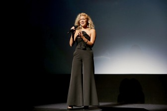 "Tori Kelly performs at Universal Pictures ""Sing"" at the 2016 Toronto International Film Festival on Sunday, Sept. 11, 2016, in Toronto. (Photo by Eric Charbonneau/Invision for Universal Pictures/AP Images)"