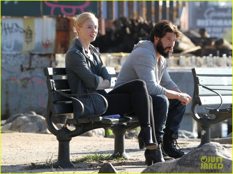 Jon Berthal & Deborah Ann Woll Film 'The Punisher' In NYC