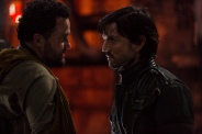 Rogue One: A Star Wars Story..L to R: Tivik (Daniel Mays) and Cassian Andor (Diego Luna)..Ph: Giles Keyte..© 2016 Lucasfilm Ltd. All Rights Reserved.