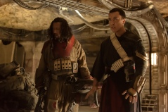 Rogue One: A Star Wars Story..L to R: Baze Malbus (Jiang Wen) and Chirrut Imwe (Donnie Yen)..Ph: Giles Keyte..© 2016 Lucasfilm Ltd. All Rights Reserved.