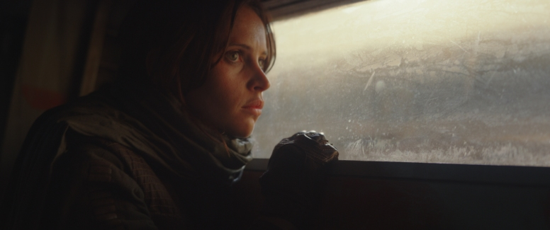 Rogue One: A Star Wars Story..Jyn Erso (Felicity Jones)..Photo credit: Lucasfilm/ILM..©2016 Lucasfilm Ltd. All Rights Reserved.