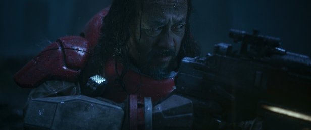 Rogue One: A Star Wars Story..Baze Malbus (Jiang Wen)..Ph: Film Frame ILM/Lucasfilm..© 2016 Lucasfilm Ltd. All Rights Reserved.