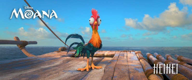 "ALAN TUDYK, Walt Disney Animation Studios' lucky charm (""Zootopia,"" ""Wreck-It Ralph,"" ""Big Hero 6""), is behind the voice of HEIHEI, a dumb rooster who accidently stows away on Moana's canoe. ©2016 Disney. All Rights Reserved."