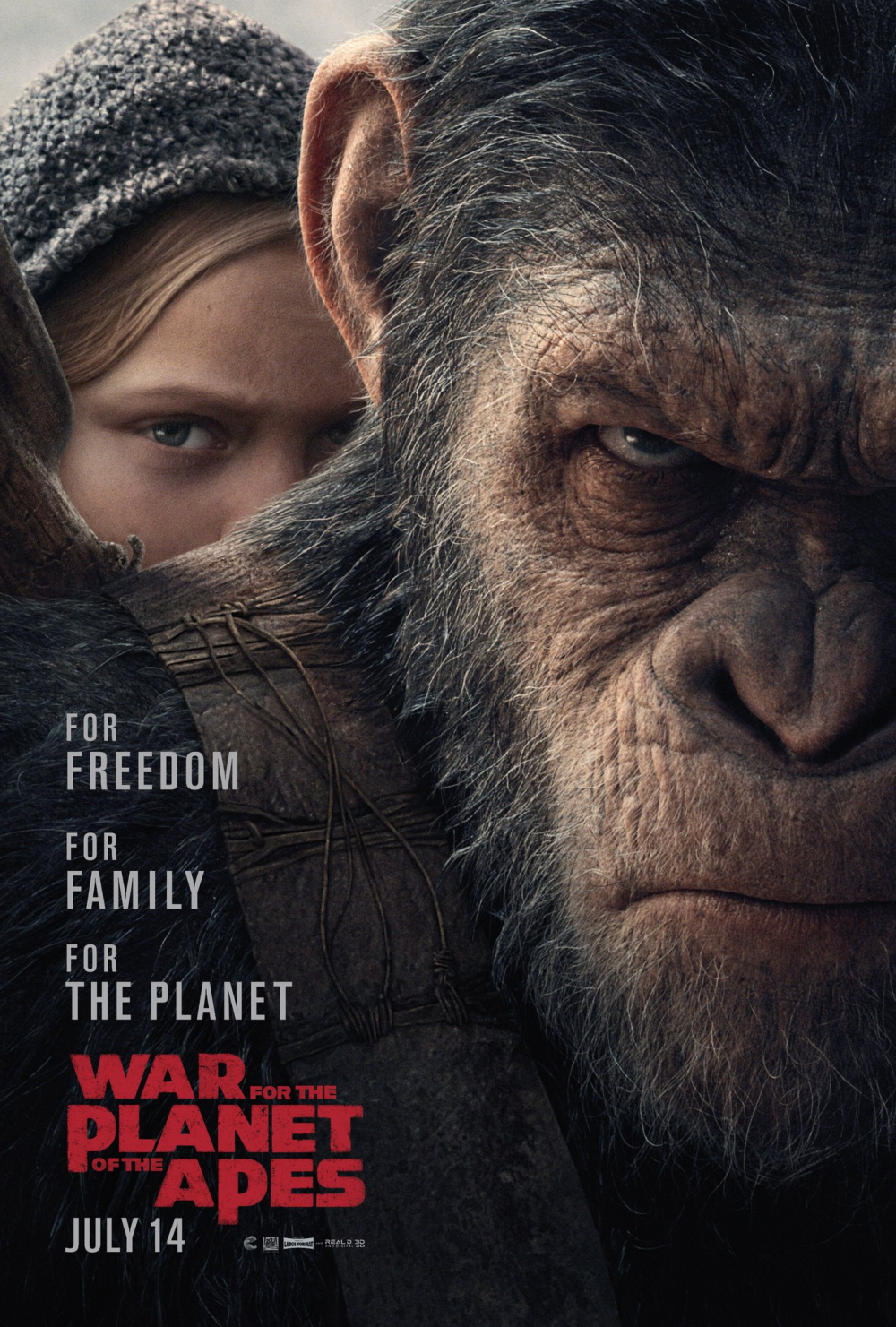 War for the Planet of the Apes US Poster 2