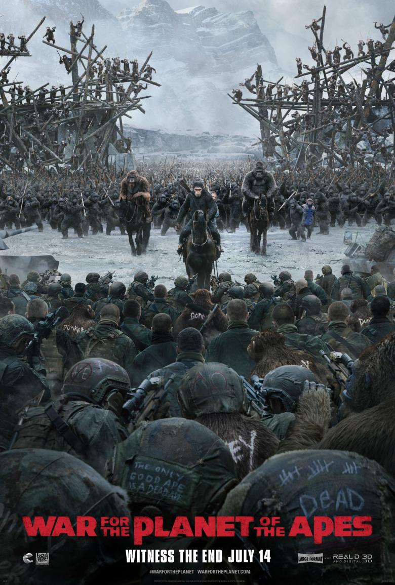 War for the Planet of the Apes US Poster 3