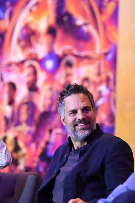 Mark Ruffalo (Bruce Banner/Hulk) Infinity War at the press conference in Mexico City.