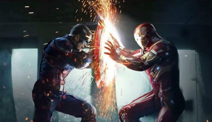 capitan america vs iron man