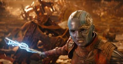 Marvel Studios' AVENGERS: INFINITY WAR..Nebula (Karen Gillan)..Photo: Film Frame..©Marvel Studios 2018