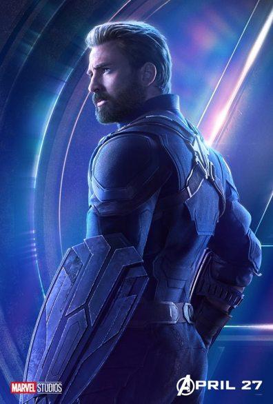 posters individuales avengers infinity war capitan america