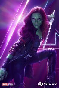 posters individuales avengers infinity war gamora