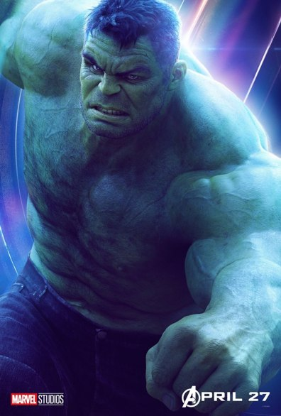 posters individuales avengers infinity war hulk