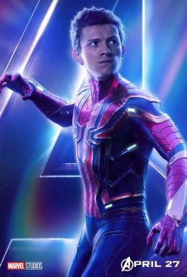 posters individuales avengers infinity war spider-man